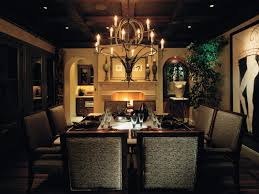 rustic dining room lighting brown sculpture legged dining table