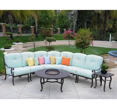 Cast Aluminum Outdoor Sets by Athena Cast Aluminum Patio Sectional By Meadow Decor