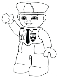 Cartoon Coloring Pages Police Person Dog Printable Car To Print Lego