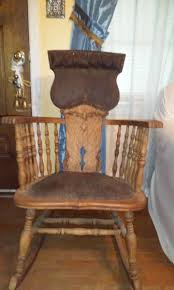 Rocking Chair Stuffed With Hay & Large Springs, Leather ... Arts Crafts Mission Oak Antique Rocker Leather Seat Early 1900s Press Back Rocking Chair With New Pin By Robert Sullivan On Ideas For The House Hans Cushion Wooden Armchair Porch Living Room Home Amazoncom Arms Indoor Large Victorian Rocking Chair In Pr2 Preston 9000 Recling Library How To Replace A An Carver Elbow Hall Ding Wood Cut Out Stock Photos Rustic Hickory Hoop Fabric Details About Armed Pressed Back