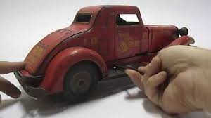 RARE 1930s Vintage Marx Tin Toy Car Wind-Up/Battery Operated 1st ... Bargain Johns Antiques Blog Archive Buddy L Pressed Steel Antique Cast Iron Arcade Toy Intertional Dump Truck Ride Em For Sale Sold Fire Trucks For Sale Wen Mac Texaco Truck Speechless Sunday Garden Planters Vintage Diecast Metal Milk 1930s Stock Photo 3105894 Aerial Ladder Circa 261930 1937 Ford Pickup Red 124 Scale American Classic Diecast Image Free Space Toys Price Guide Information
