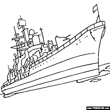 Sovremenny Class Destroyer Russian Navy Warship Speedboat Online Coloring Page