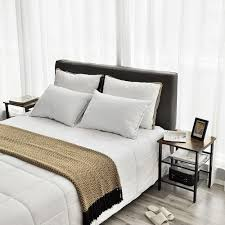 vasagle nachttische beistelltisch set 2er set sofatische kleine couchtische mit verstellbaren gitterablagen wohnzimmer schlafzimmer flur