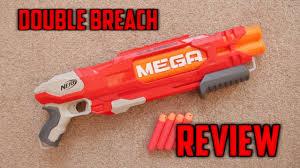 nerf mega doublebreach unboxing review range test