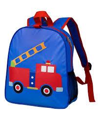 100 Fire Truck Applique Wildkin Blue Appliqu Backpack Zulily