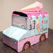 100 Ice Cream Truck Party Cardboard Ice Cream Truck For Cars Themed Birthday Party