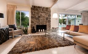 mid century modern home in palm springs midcentury living room