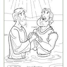 Infant Baptism Coloring Pages Adult Printables Jesus Sunday School