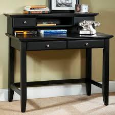 Cute Corner Desk Ideas by Furniture Black Wooden Desk With Hutch And Book Shelf Also