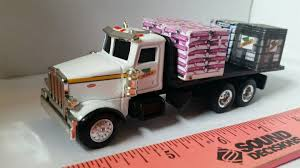 1/64 CUSTOM ERTL Farm Toy Peterbilt Dekalb Seed Flatbed Delivery ...