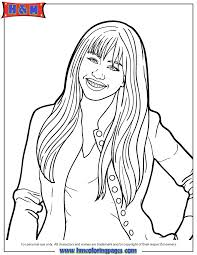 Disney Channel Hannah Montana Coloring Page