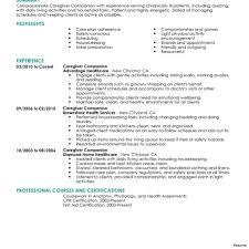 Caregiver Resume Template - Cmt-Sonabel.org