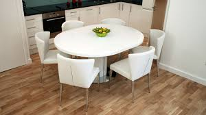 Modern Round White Gloss Extending Dining Table And Chairs Seats 4 6 Brilliant Room