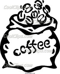 Coffee clipart coffee bean bag 7