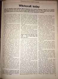 Witchcraft Today By Stewart Farrar Fate Magazine 1974