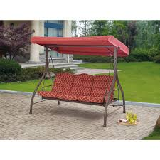 Patio Bench Cushions Walmart by Decor Mainstays Forest Hills 3 Seat Cushion Swing Walmart With