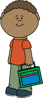 Boy Carrying Lunch Box Clip Art Clipart Black And White