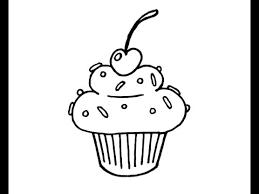How to Draw a Simple Cartoon Cupcake Beginner