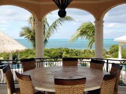 outdoor dining table on the balcony with round dining table and 8