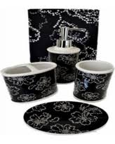 Black And White Flower Shower Curtain by Sweet Deal On 22 Piece Bath Accessory Set Navy Blue Flower