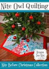 Tree Skirt Pattern Hexagon Nite Before By GabbysQuiltsNSupply