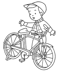Free Bicycle Coloring Page For Kids