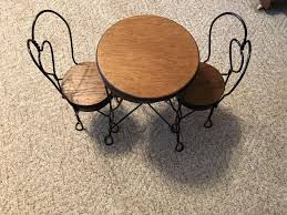 """Table & Chairs For American Girl Dolls/other Dolls. Table Is 14 1/2"""" Tall X  11"""" Wide. Chairs Are 17 1/2"""" Tall X 6 1/2"""" Wide. Table And Chair Set Fits 18 Dolls Diy Ding Chairs For American Girl Mentari Wooden Dollys Tea Party Setting Inclusive Of 2 By Mamagenius House Eames Kspring Thingiverse Pin On Lundby Dollhouse Room Miaimmiaturesbring Dolls Houses Back D1v15 Gazechimp 5pcs Simulation Miniature Fniture Toys Dollhouse Sets Baby For Kids Play Toy Kitchen Decor Hot New Butterfly Dressing Makeup Bedroom Disney Princess Royal Tea Party Playset Palace X 3 Sweet Vintage Wrought Iron Bistro With Extras"""