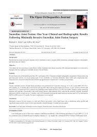 si e orthop ique open versus minimally invasive sacroiliac pdf available