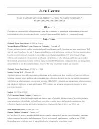 View Resume Pediatric Nurse Practitioner