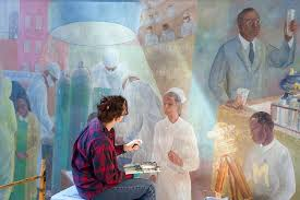 wpa murals at harlem hospital karsten moran photography archive