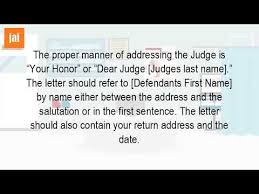 How Do You Write A Letter To A Judge