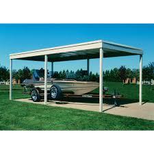 Arrow Galvanized Steel Storage Shed by Arrow Arrow Freestanding Carport Patio Cover 10x20 Dipped