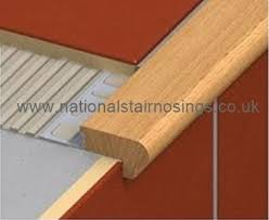 Wood Stair Nosing For Tile by Wood Stair Nosing Step Edging For Tiles Stone Wood For Indoors