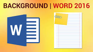 How To Apply A Page Background In Word 2016