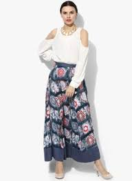 global desi white speckled skirt skirt offwhite