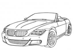 BMW M6 Coloring Page