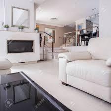 bild einem gemütlichen wohnzimmer in luxus villa