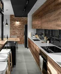 cuisines style industriel cuisine style industriel bois veilli brique noir blanc