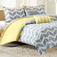 Nadia Twin forter Set Chevron Yellow