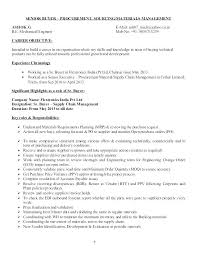 Recruiter Resume Example Objective For Procurement Statement