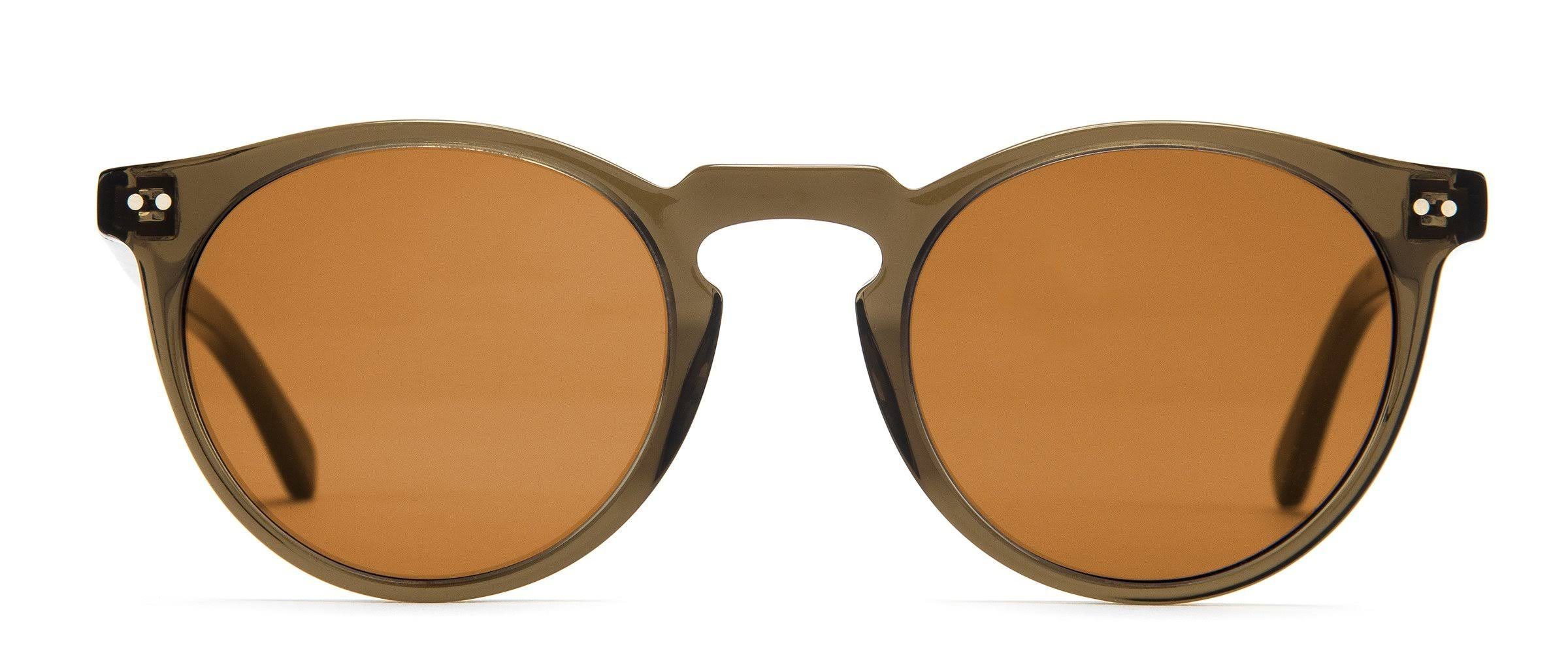 Otis Omar Mineral Glass Sunglasses - Trans Tobacco Brown Polarized