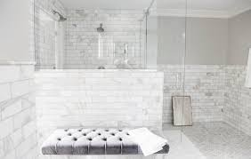 Calcutta Marble Transitional Bathroom Jeneration Interiors With Tile Prepare