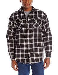 wrangler authentics men u0027s long sleeve quilted flannel lined shirt
