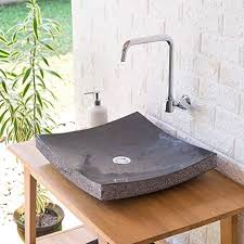 wohnfreuden naturstein marmor waschbecken zen waschtisch