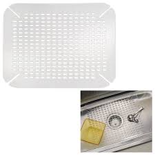 Kitchen Sink Protector Mats by Interdesign 59060 Kitchen Sink Mat Adjustable Contour Size Clear