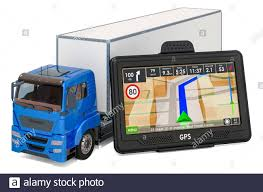 100 Gps Systems For Trucks GPS Navigation With Truck 3D Rendering Isolated On White