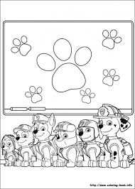 All Puppies From Paw Patrol Online Coloring Page