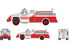 Ford F-850 Fire Truck   Athearn RTR