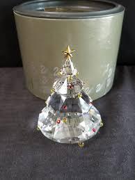 Retired Swarovski Crystal Christmas Tree Figurine Made In