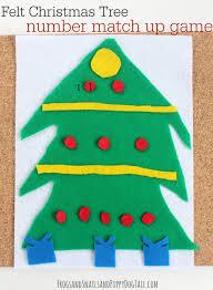 Felt Christmas Tree Number Match Up